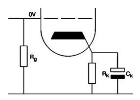 Катодное смещение с использованием резистора