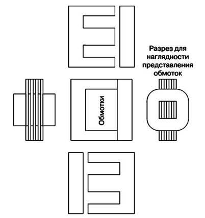 Послойное чередование порядка укладки Ш-образных пластин  при сборке магнитопровода