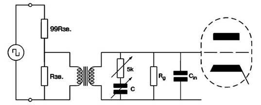 Определение значений сопротивления и емкости элементов, образующих схему Зобеля