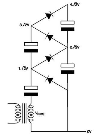 Схема умножителя напряжения